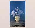 23 - OIL ON CANVAS - STILL LIFE OF LILACS - FIRST HALF OF THE 20TH. CENTURY