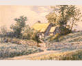 #383  F.J. WAUGH, WATERCOLOR OF COTTAGE CIRCA 1900
