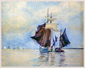442_Watercolor_Two_Sailboats