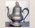 100 - 19TH. CENTURY COFFEE POT, UNSIGNED - PRICE $185