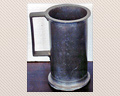 103 - 19TH. CENTURY PEWTER TANKARD - 7 IN. TALL - PRICE $165